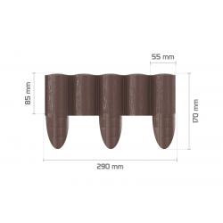 Bordure à planter ECO / brune